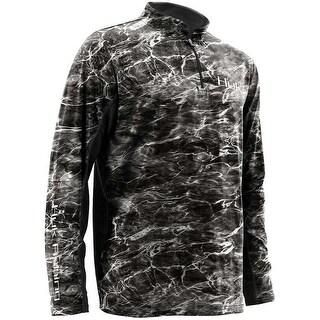 Huk Men's Element Icon Blacktip Large 1/4 Zip Long Sleeve Shirt