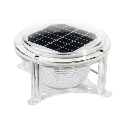 Dock Edge Piling Solar Dome Light