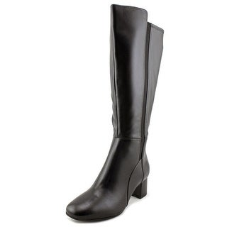 Naturalizer Naples Wide Calf W Round Toe Leather Knee High Boot