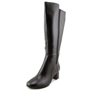 Naturalizer Naples Wide Calf W Round Toe Leather Knee High Boot|https://ak1.ostkcdn.com/images/products/is/images/direct/497706fc688f0027ed8c9b12e63d66e0843c7746/Naturalizer-Naples-Wide-Calf-Women-W-Round-Toe-Leather-Black-Knee-High-Boot.jpg?impolicy=medium
