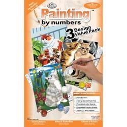 """Cats - Junior Small Paint By Number Kit 8.75""""X11.75"""" 3/Pkg"""