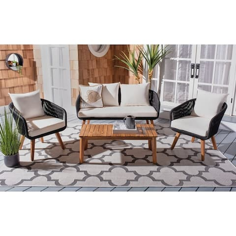 Safavieh Outdoor Living Prester 4Pc Living Set
