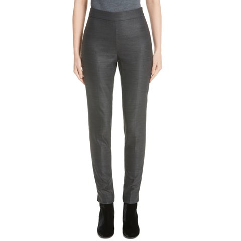 St. John Charcoal Women's Ankle Skinny Leg Pants