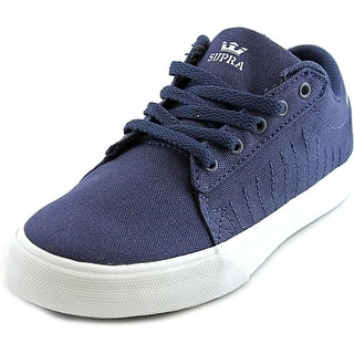Supra Kids Belmont Youth Round Toe Canvas Blue Skate Shoe