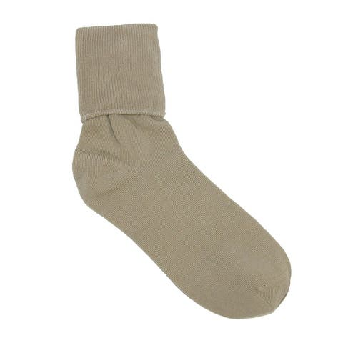 Jefferies Socks Women's Organic Cotton Turn Cuff Socks