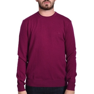 Valentino Men's Crew Neck Sweater Magenta