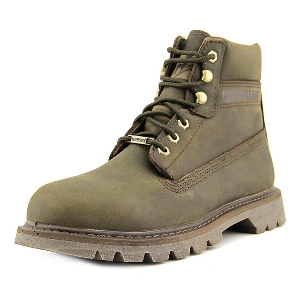 Caterpillar Watershed WP Women Round Toe Leather Brown Work Boot