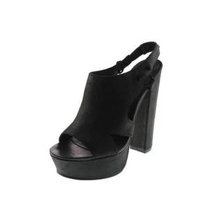 Diesel Womens Kaboom Tulley Leather Slingback Platform Sandals - 7.5