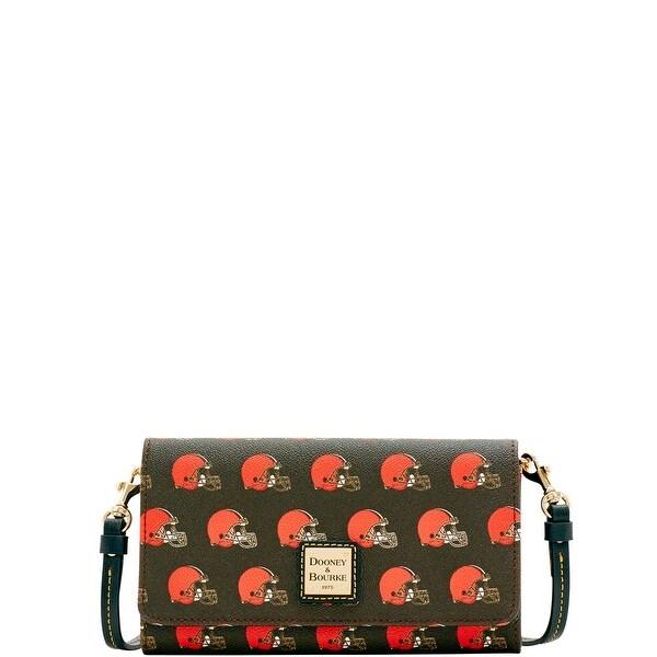 New Shop Dooney & Bourke NFL Cleveland Browns Daphne Crossbody Wallet  for cheap