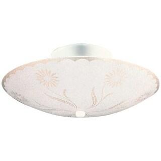 Design House 501619 2 Light Ambient Lighting Semi-Flush Ceiling Fixture