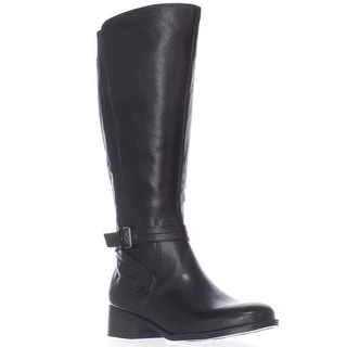 naturalizer Wynnie Wide Calf Riding Boots - Black