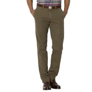 Polo Ralph Lauren Classic Fit Flat Front Chinos Pants Olive Cotton Twill