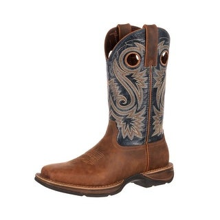 Durango Western Boots Mens Rebel Saddle Square Toe Brown DDB0075
