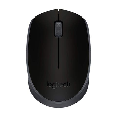 Logitech Wireless M170 Mouse Black - 7.6 x 4.7 x 3.6