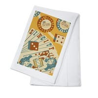 Las Vegas, Nevada Sin City - Lantern Press Artwork (100% Cotton Towel Absorbent)