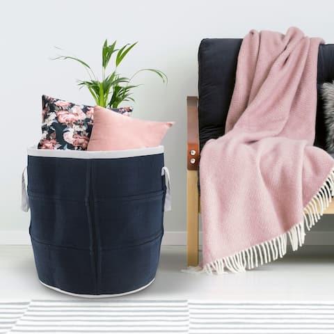 """Solid Coastal Indoor Outdoor Storage Basket - 21"""" x 21"""" x 21"""""""