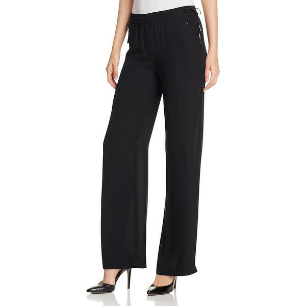 Shop Elie Tahari Womens Linen Pants Belted Elastic Free Shipping