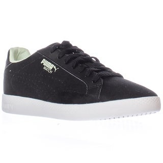 Puma Match Low Canvas Fashion Sneakers - Black/White/Patina Green