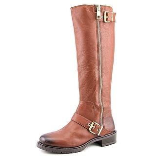 BCBGeneration Shayna Round Toe Leather Knee High Boot