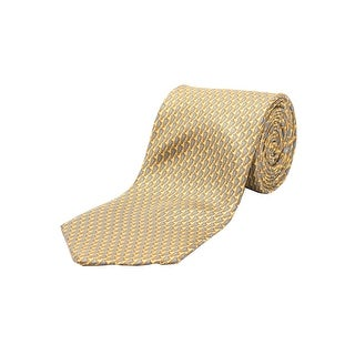 Ermenegildo Zegna Men Slim Silk Neck Tie Gold