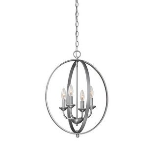 "Millennium Lighting 3034 4 Light 16"" Wide Pendant with Cage Frame and Candle Style Lights"