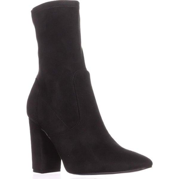 Ivanka Trump Lynna Ankle Booties, Black Fabric