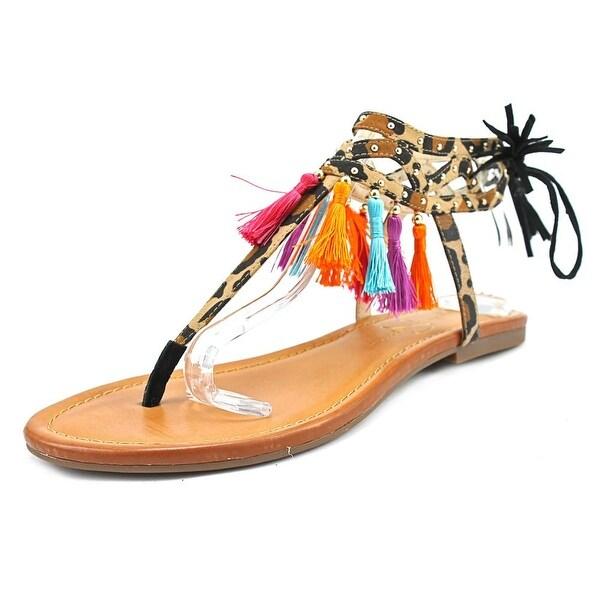 Jessica Simpson Kamel Women Open-Toe Canvas Multi Color Slingback Sandal