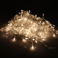 Image 300LED Curtain Lights String Light for Christmas Party Decoration Warm White 3Mx3M