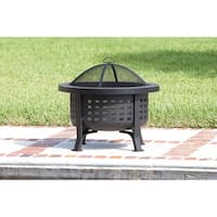 Fire Sense 62240 30 Inch Wide Wood Burning Fire Pit with Cooking Grate