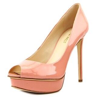 Nine West Edlyn Women Open Toe Leather Pink Platform Heel