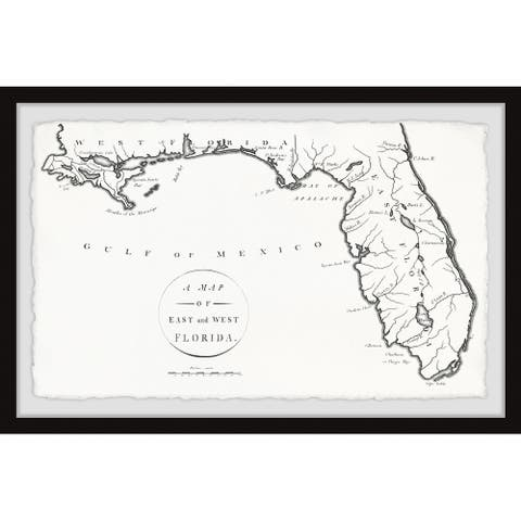 'A Map of East and West Florida' Framed Painting Print