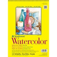 "Strathmore Watercolor Paper Pad 9""X12""-140Lb Cold Press 12 Sheets"