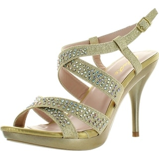 Celeste Womens Lynn-03 Strappy Dress Bridesmaid Prom Party Sandal Pumps