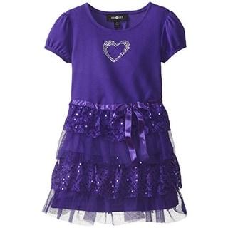 Amy Byer Girls Lace Trim Casual Dress - 5