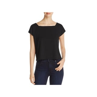 Eileen Fisher Womens Casual Top Jersey Square Neck