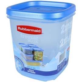 Rubbermaid 1867384 Freezer Blox Food Storage Container, 3.8 cups, 2 Piece