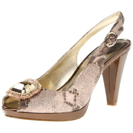 AK Anne Klein Women's Ellynne Synthetic Platform Pump - 10