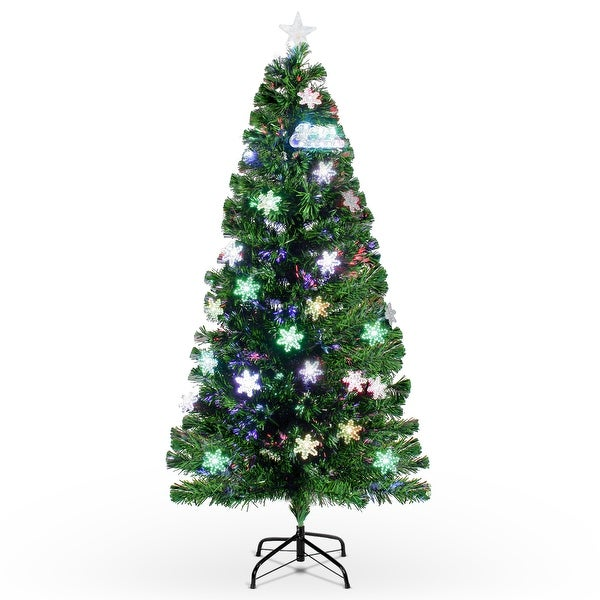 Lead Free Christmas Trees: Shop BELLEZE Classic Spruce Hinged Pre-lit Artificial