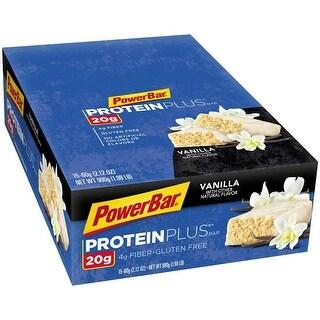 PowerBar Protein Plus Bar 420g Protein Vanilla 2.12 oz Bar 15 Count