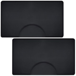 Saloniture 3 ft. x 5 ft. Salon & Barber Shop Chair Anti-Fatigue Floor Mat - Black Rectangle - 1/2 in. Thick - 2 Pack