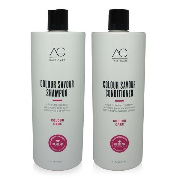 AG Hair Colour Savour Shampoo & Conditioner 33.8 Oz Combo Pack