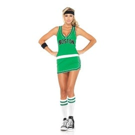 Leg Avenue Womens NBA Celtics Player Halloween Party Dress Costume