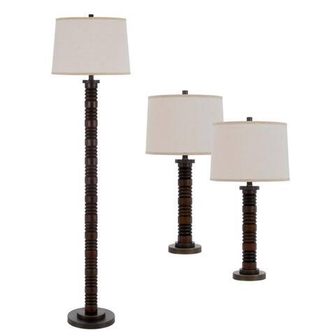 Northfield Faux Wood Metal Lamp Set
