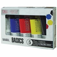 Liquitex Basics Acrylic Paint 75ml 5/Pkg-Assorted Colors