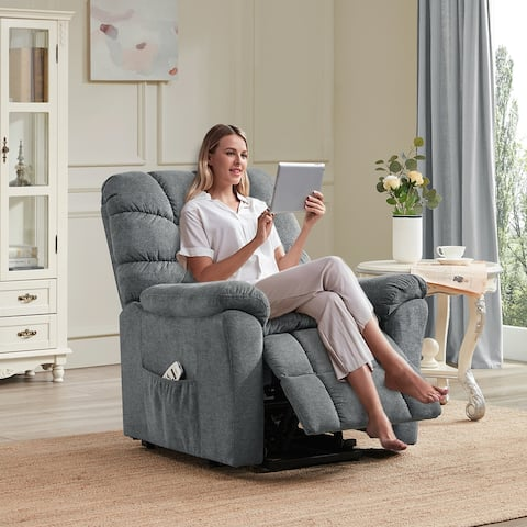 Power Lift Recliner Chair for Elderly with Adjustable Massage& Heating