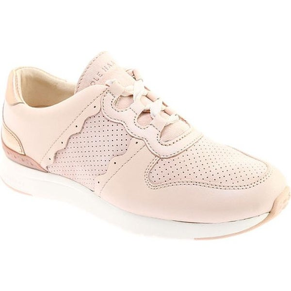 b8425490d44 Cole Haan Women  x27 s Grandpro Sneaker Peach Blush Leather Rose Gold  Metallic
