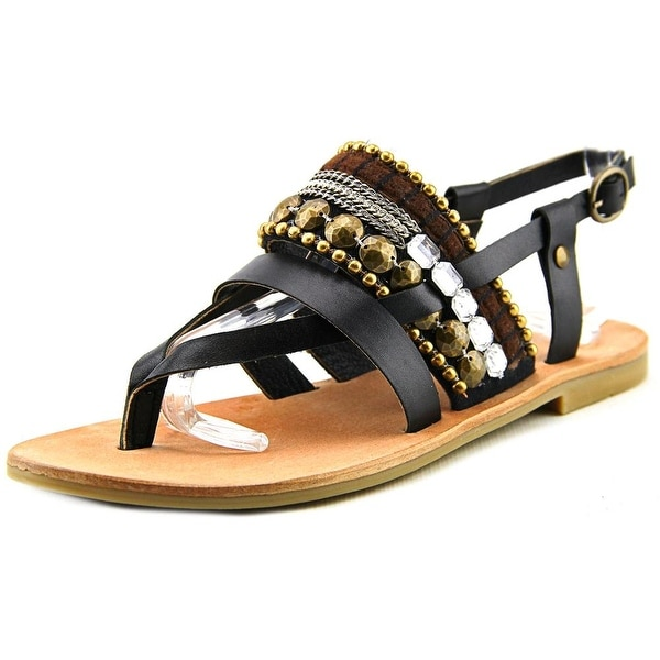 Diba True Har Low Open-Toe Leather Slingback Sandal