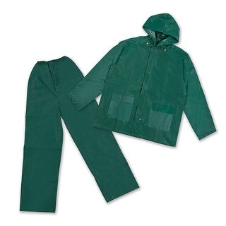 Stansport Mens Rain Suit with Hood - Green XLarge - 2017-G-XL