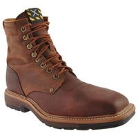 Twisted X Boots Men's MLCSLW1 Oiled Brown/Rust Leather