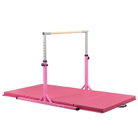 Zenova Adjustable Height Fitness Training Bar for Kids (mat not included)
